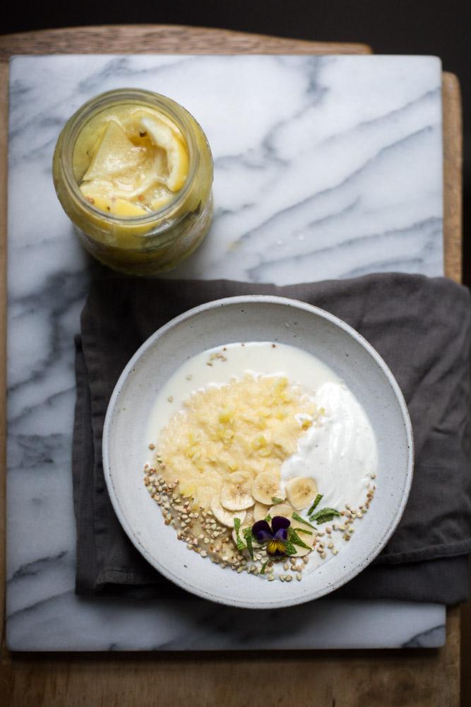 lemon polenta porridge - to her core 2