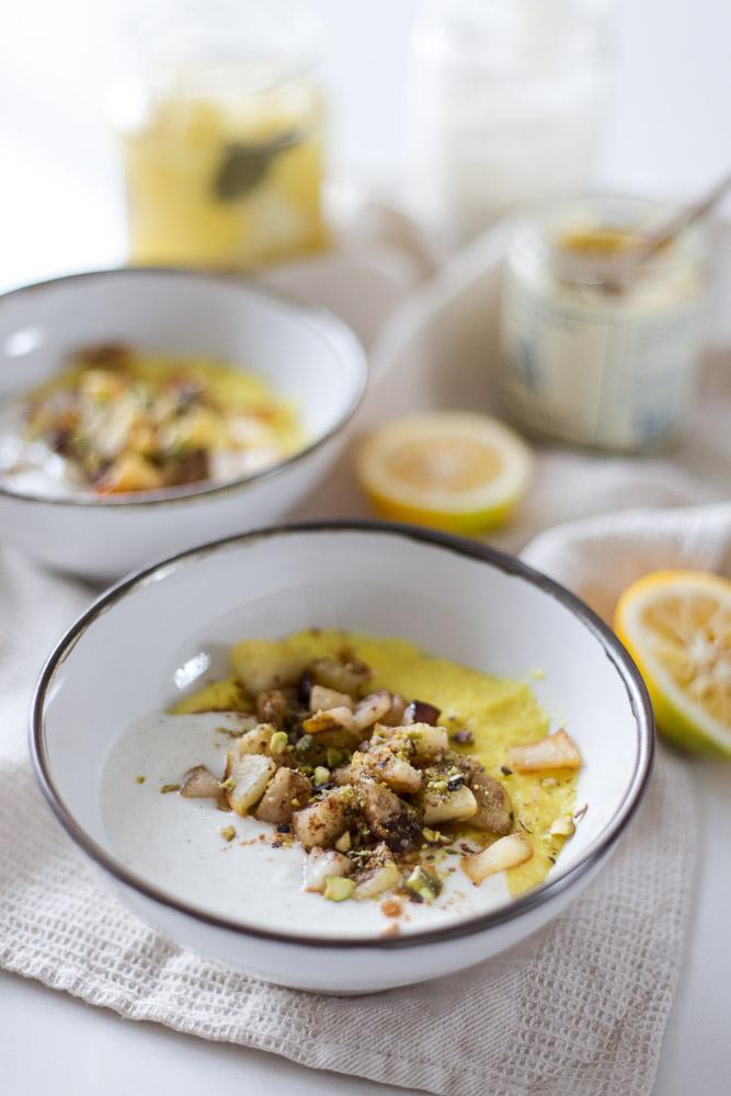 lemon polenta porridge - to her core 4