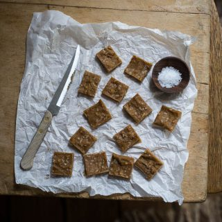 Salted caramel peanut butter fudge
