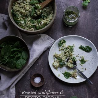 Roasted cauliflower + pesto risoni