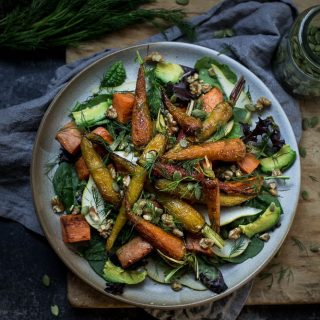 A roasted vegetable salad for all seasons