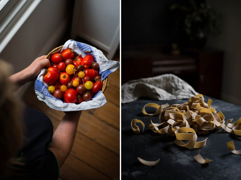 Roasted tomato pasta - to her core