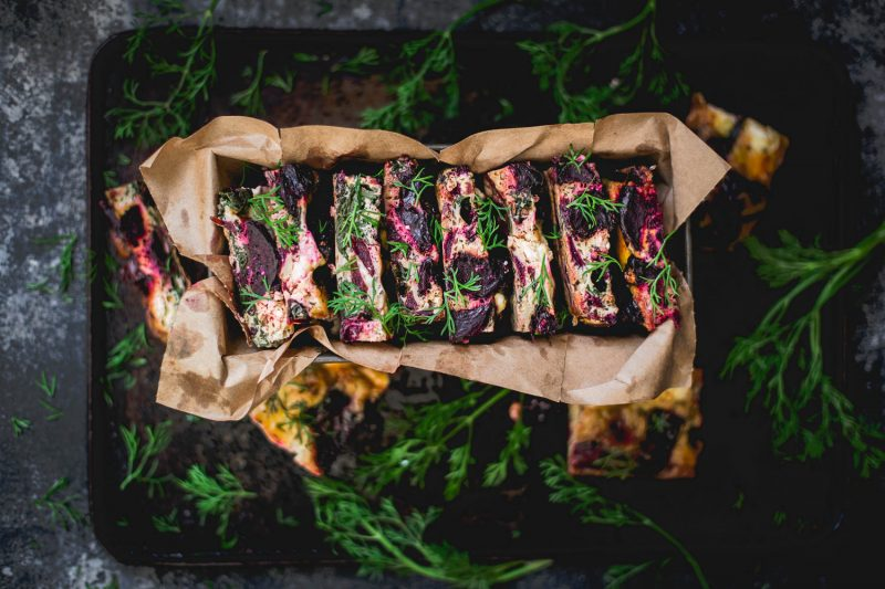 Whole beet frittata - to her core