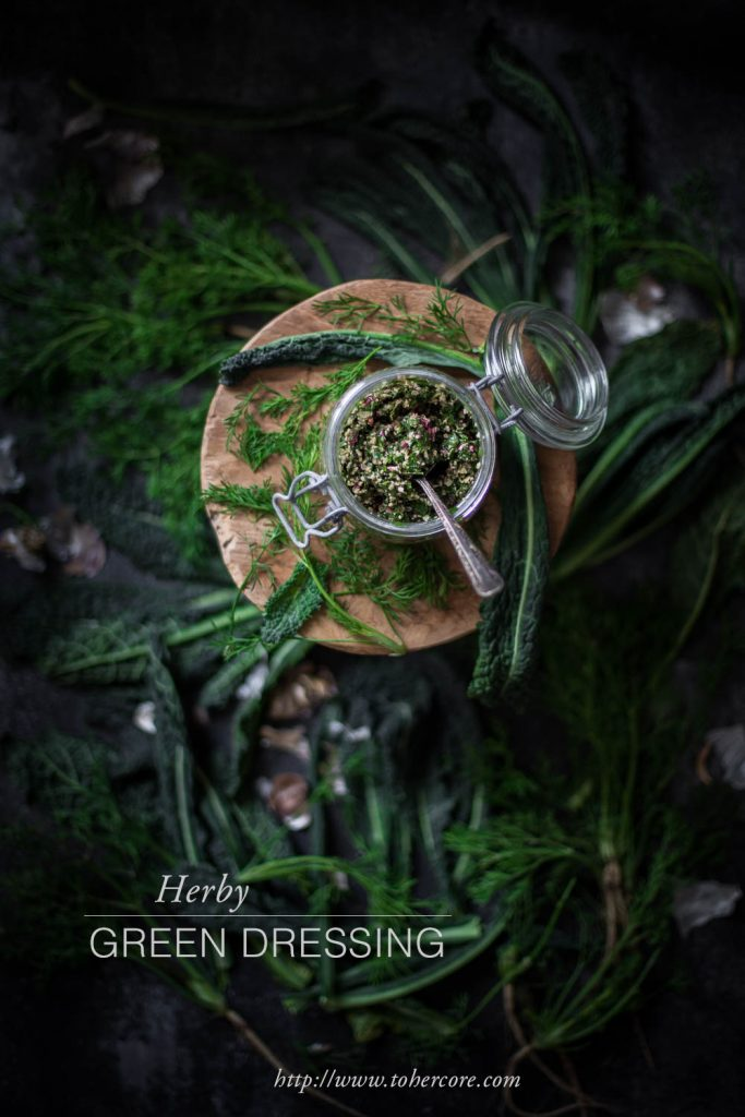 Herby green dressing | to her core