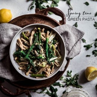 Spring time green pasta - To Her Core