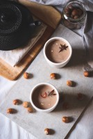 Chilli chai hot chocolate with roasted hazelnut milk http://www.tohercore.com