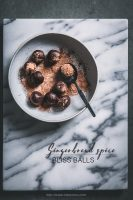 Gingerbread spice bliss balls | To Her Core